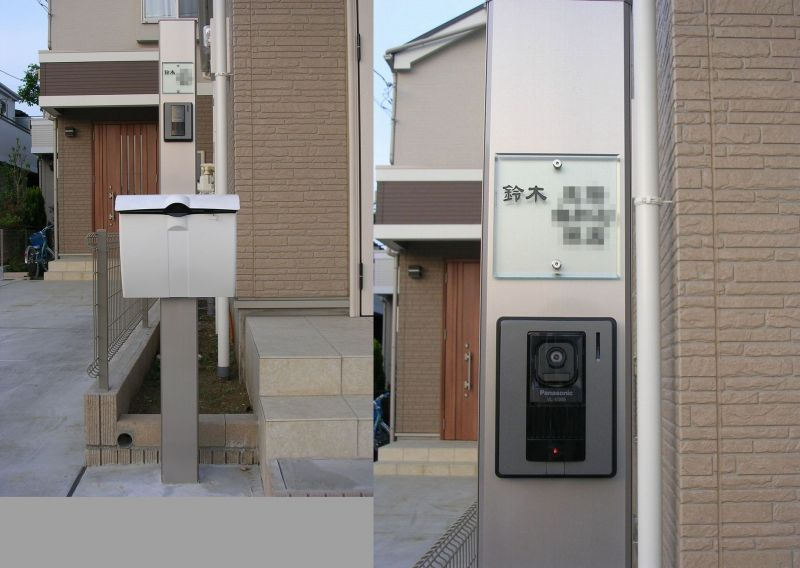 飯田産業105ミリ角 アクリルガラス 表札画像